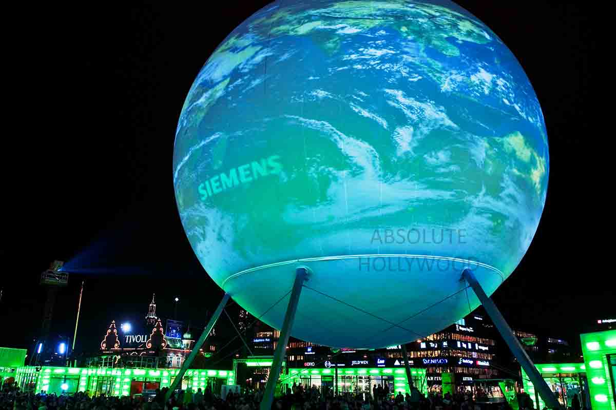 Copenhagen Climate Conference 360 Video Sphere Screen Panorama of Earth