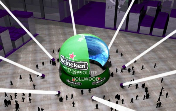 Cutaway View of StratoSphere 360 Video Air Dome with Full Dome Projection Heineken Dome