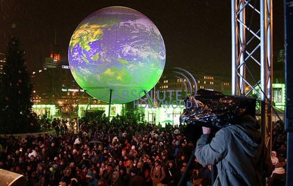 Copenhagen COP15-Earth-View-Immersive-Panorama-360-Video-Display-Screen-Sphere