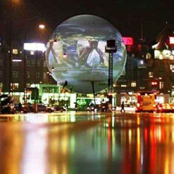 360 Video Sphere, World's Largest Immersive Interactive Video Screen
