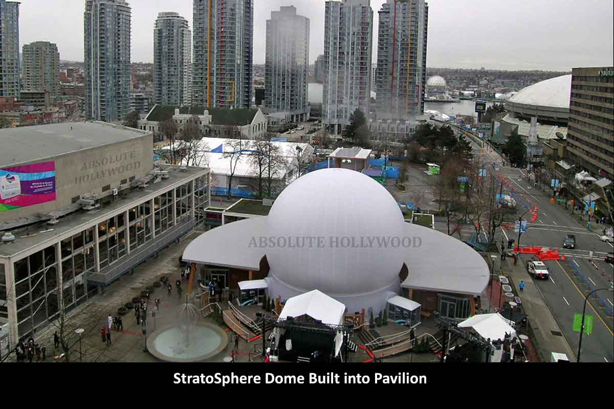 StratoSphere Dome Venue Air Dome Structure at Olympics