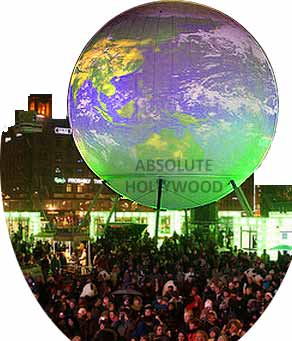 Interactive 360 Screen Sphere Video of Earth