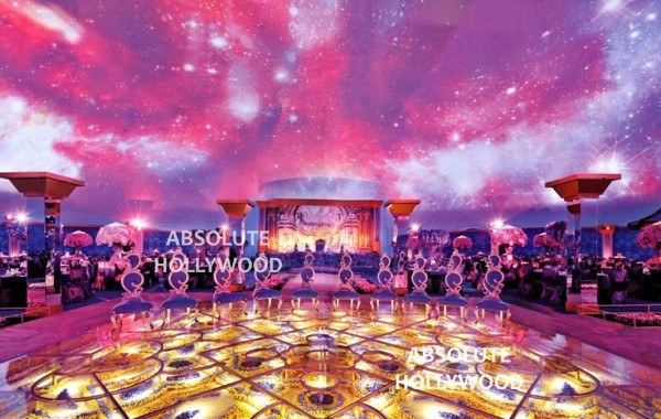 Ultimate Wedding Venue inside the Celestial Dome Venue with 360 Video Dome Projection