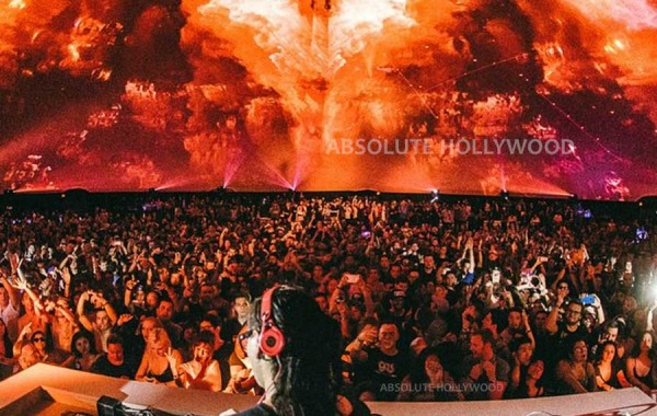 Skrillex in the World's Largest Video Dome, Celestial Dome 360 Projection