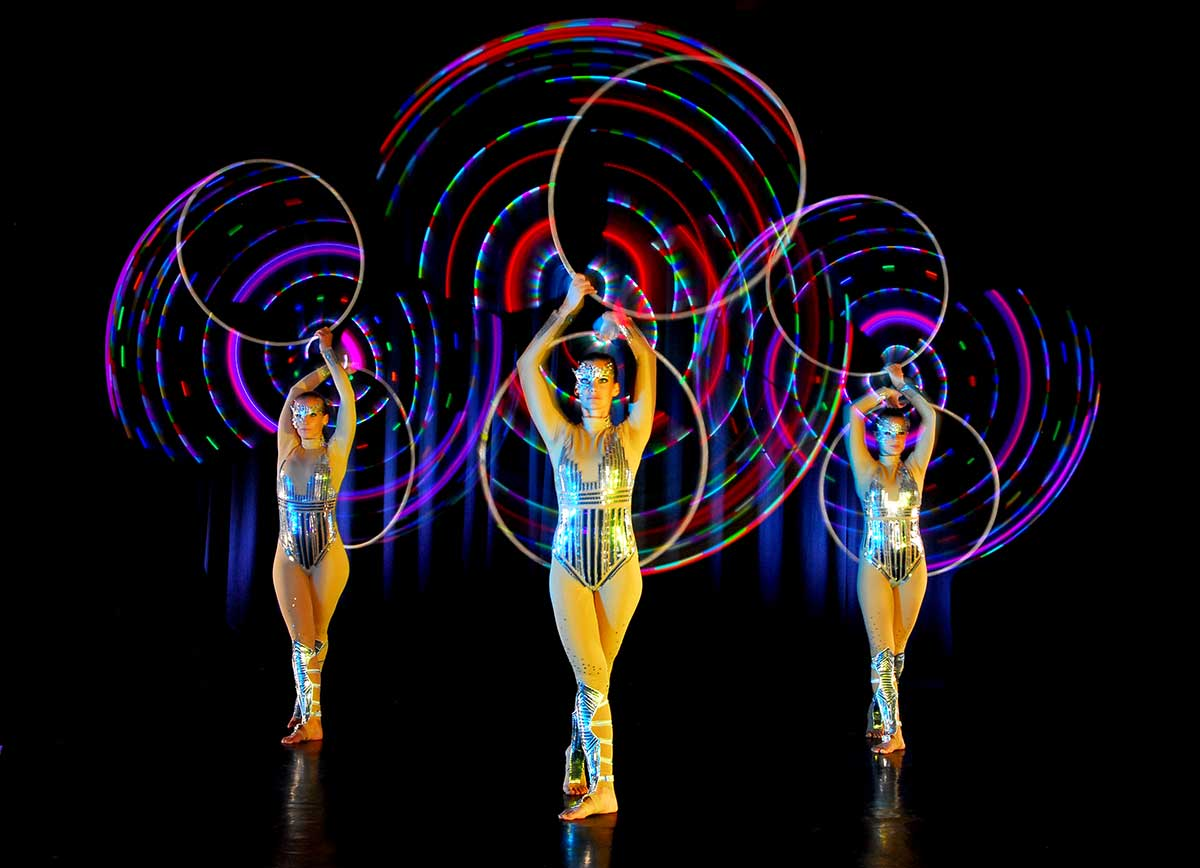Video Fulldome Show Live Theater 360 Video Projection Dome Show LED Design by Actress Actor Hula Style