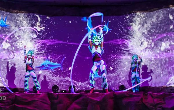 360 Video Fulldome Show Live Theater LED & Laser Extravagant Dance