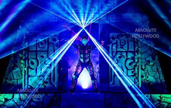 360 Video Fulldome Show Live Theater LED & Laser man black light