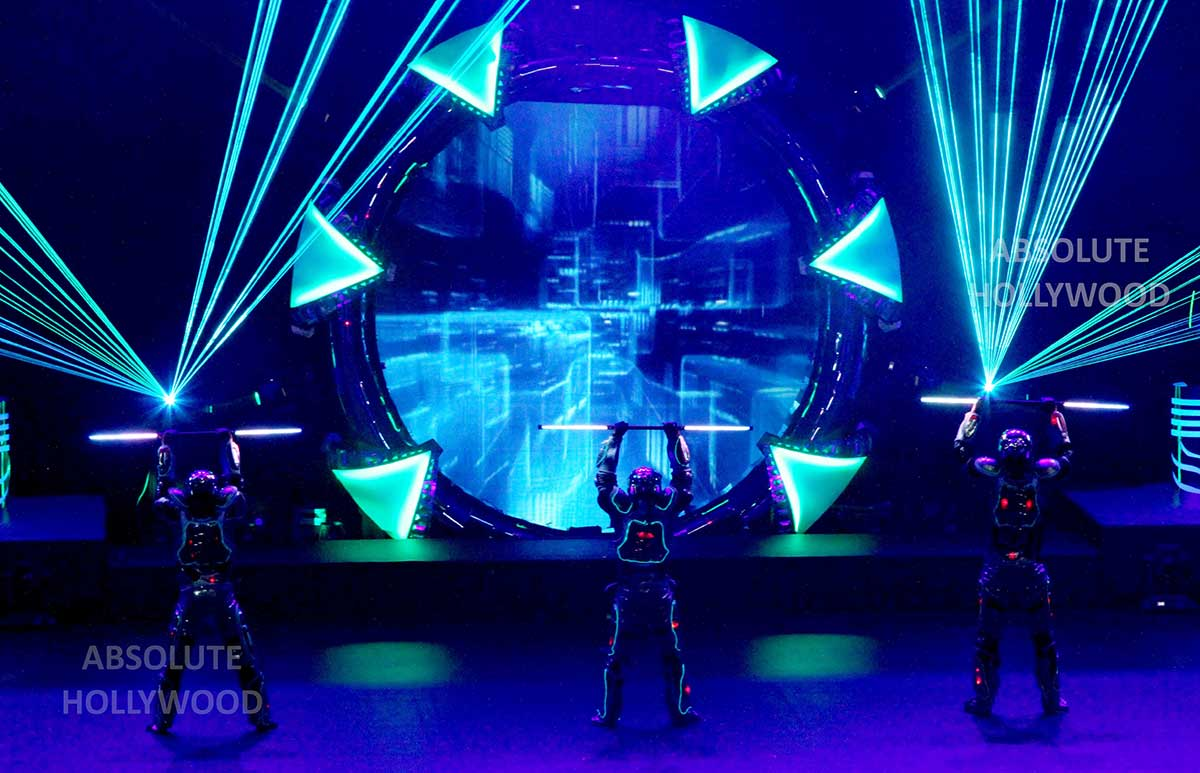 Fulldome Show LED and Laser Light Show, Live 360 Show in