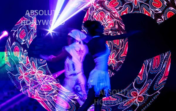 360 Video Fulldome Show Live Theater LED & Laser 2 led dancers