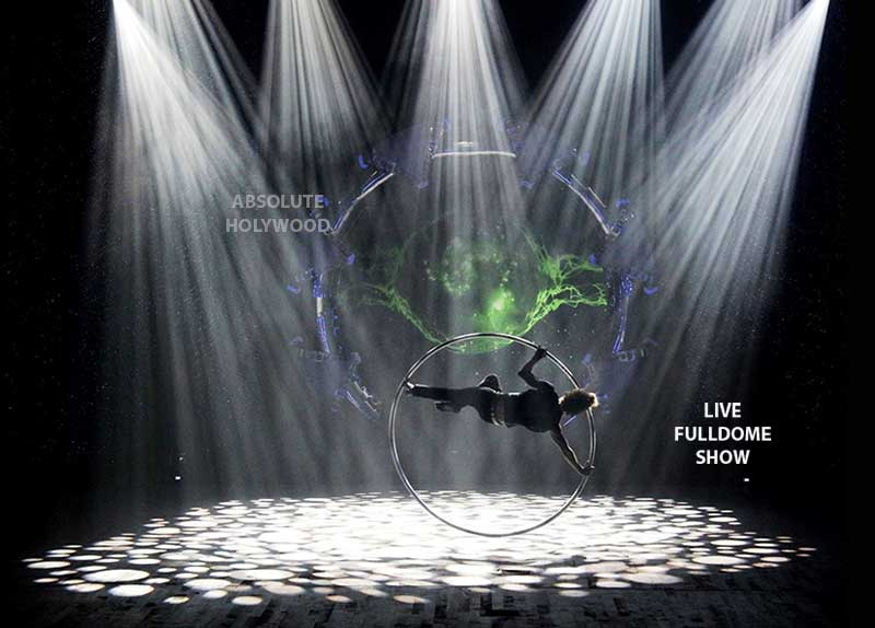 Fulldome-Shows-Circus-360-Live-Theater-Interactive-Dome-Show-Video-Production in Dome