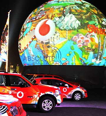 Event Interactive 360 Video Display Sphere for Trade Shows, Conventions and Corporate Lobbies with Automobile Auto Car Launch