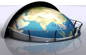 Event Interactive 360 Video Display Sphere for Trade Shows, Conventions and Corporate Lobbies with Earth Globe View Display.