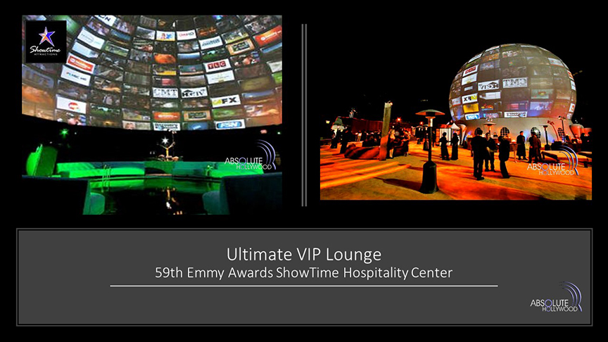 Emmy award in the stratosphere dome venue with 360 video projection