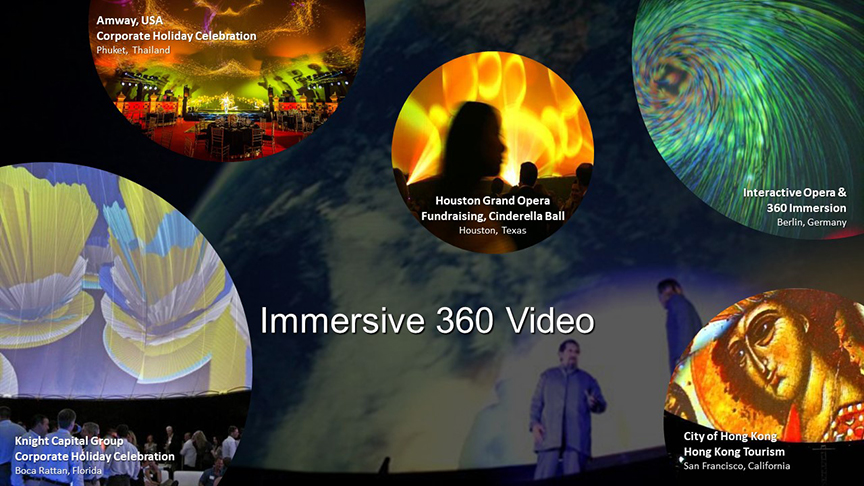 Immersive Large stratosphere dome video projection for 360 immersive video show in air inflated portable video dome
