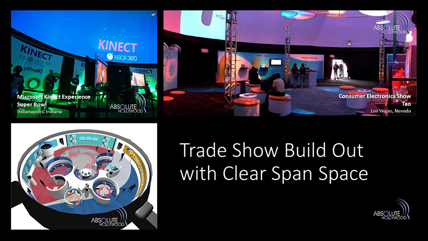 360 Stratosphere dome corporate trade show 360 video projection