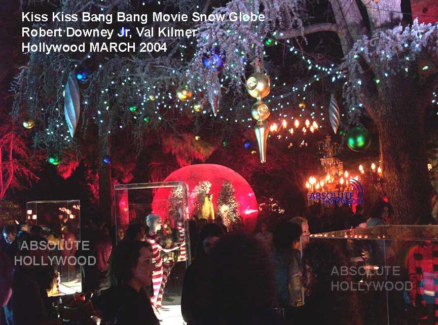 Kiss Kiss Bang Bang Movie Robert Downey Jr, Val Kilmer Large Snow Globe Los Angeles