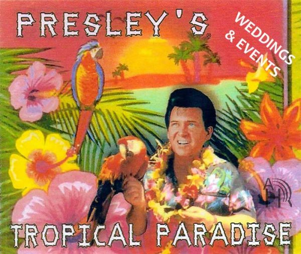 Elvis Presley lookalike impersonator, Elvis Jr, is the Singer & Performer for Your Tropical Hawaii Beach Wedding Surrounded by 360 Immersion